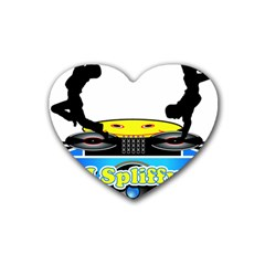 Dj Logo Transparent Heart Coaster (4 Pack)  by Acid909