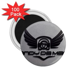Andy Da Man 3d Grey 2 25  Magnets (100 Pack)  by Acid909