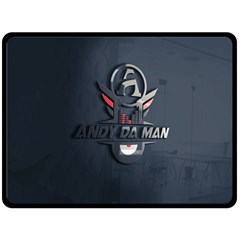 Andy Da Man 3d Dark Fleece Blanket (large)  by Acid909