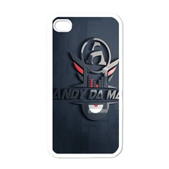 Andy Da Man 3d Dark Apple Iphone 4 Case (white) by Acid909