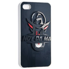 Andy Da Man 3d Dark Apple Iphone 4/4s Seamless Case (white) by Acid909