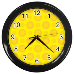 Cheese Background Wall Clocks (black) by berwies