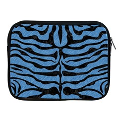 Skin2 Black Marble & Blue Colored Pencil (r) Apple Ipad Zipper Case by trendistuff