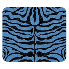 Skin2 Black Marble & Blue Colored Pencil (r) Double Sided Flano Blanket (small) by trendistuff
