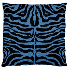 Skin2 Black Marble & Blue Colored Pencil Standard Flano Cushion Case (two Sides) by trendistuff