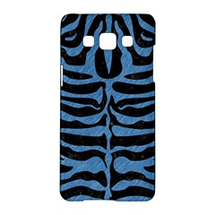 Skin2 Black Marble & Blue Colored Pencil Samsung Galaxy A5 Hardshell Case  by trendistuff