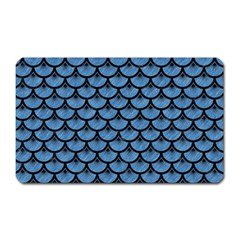 Scales3 Black Marble & Blue Colored Pencil (r) Magnet (rectangular) by trendistuff
