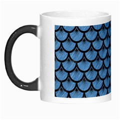 Scales3 Black Marble & Blue Colored Pencil (r) Morph Mug by trendistuff