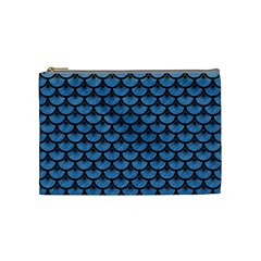 Scales3 Black Marble & Blue Colored Pencil (r) Cosmetic Bag (medium) by trendistuff