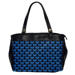 Scales3 Black Marble & Blue Colored Pencil (r) Oversize Office Handbag by trendistuff