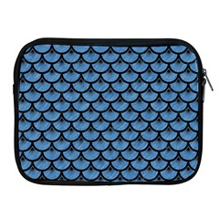 Scales3 Black Marble & Blue Colored Pencil (r) Apple Ipad Zipper Case by trendistuff