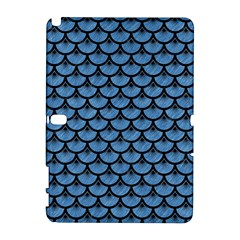Scales3 Black Marble & Blue Colored Pencil (r) Samsung Galaxy Note 10 1 (p600) Hardshell Case by trendistuff