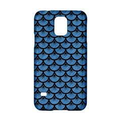 Scales3 Black Marble & Blue Colored Pencil (r) Samsung Galaxy S5 Hardshell Case  by trendistuff