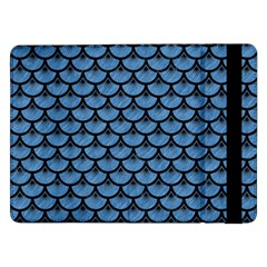 Scales3 Black Marble & Blue Colored Pencil (r) Samsung Galaxy Tab Pro 12 2  Flip Case by trendistuff