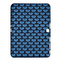Scales3 Black Marble & Blue Colored Pencil (r) Samsung Galaxy Tab 4 (10 1 ) Hardshell Case  by trendistuff