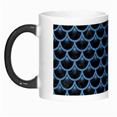Scales3 Black Marble & Blue Colored Pencil Morph Mug by trendistuff