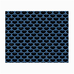 Scales3 Black Marble & Blue Colored Pencil Small Glasses Cloth (2 Sides) by trendistuff
