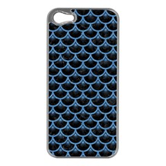 Scales3 Black Marble & Blue Colored Pencil Apple Iphone 5 Case (silver) by trendistuff