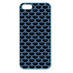 Scales3 Black Marble & Blue Colored Pencil Apple Seamless Iphone 5 Case (color) by trendistuff