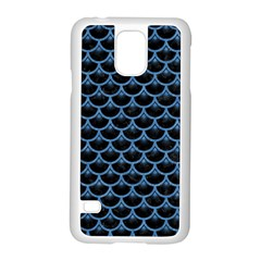 Scales3 Black Marble & Blue Colored Pencil Samsung Galaxy S5 Case (white) by trendistuff