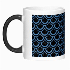 Scales2 Black Marble & Blue Colored Pencil Morph Mug by trendistuff