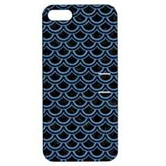 Scales2 Black Marble & Blue Colored Pencil Apple Iphone 5 Hardshell Case With Stand by trendistuff