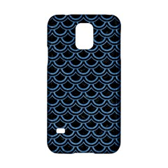 Scales2 Black Marble & Blue Colored Pencil Samsung Galaxy S5 Hardshell Case  by trendistuff