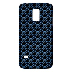 Scales2 Black Marble & Blue Colored Pencil Samsung Galaxy S5 Mini Hardshell Case  by trendistuff