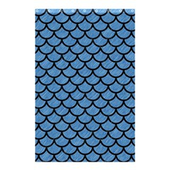Scales1 Black Marble & Blue Colored Pencil (r) Shower Curtain 48  X 72  (small) by trendistuff
