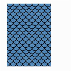 Scales1 Black Marble & Blue Colored Pencil (r) Large Garden Flag (two Sides) by trendistuff