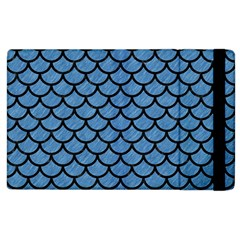 Scales1 Black Marble & Blue Colored Pencil (r) Apple Ipad 3/4 Flip Case by trendistuff