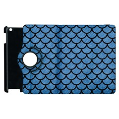 Scales1 Black Marble & Blue Colored Pencil (r) Apple Ipad 2 Flip 360 Case by trendistuff