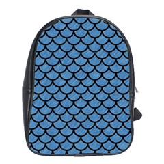 Scales1 Black Marble & Blue Colored Pencil (r) School Bag (xl) by trendistuff