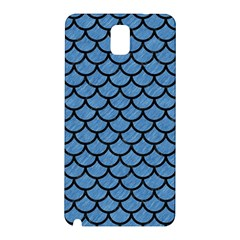 Scales1 Black Marble & Blue Colored Pencil (r) Samsung Galaxy Note 3 N9005 Hardshell Back Case by trendistuff