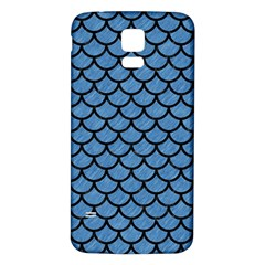 Scales1 Black Marble & Blue Colored Pencil (r) Samsung Galaxy S5 Back Case (white) by trendistuff