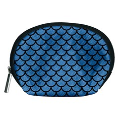 Scales1 Black Marble & Blue Colored Pencil (r) Accessory Pouch (medium) by trendistuff