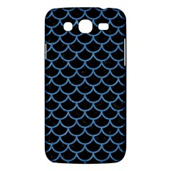 Scales1 Black Marble & Blue Colored Pencil Samsung Galaxy Mega 5 8 I9152 Hardshell Case  by trendistuff