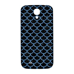 Scales1 Black Marble & Blue Colored Pencil Samsung Galaxy S4 I9500/i9505  Hardshell Back Case by trendistuff