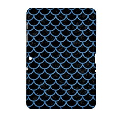Scales1 Black Marble & Blue Colored Pencil Samsung Galaxy Tab 2 (10 1 ) P5100 Hardshell Case  by trendistuff