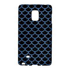Scales1 Black Marble & Blue Colored Pencil Samsung Galaxy Note Edge Hardshell Case by trendistuff