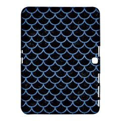 Scales1 Black Marble & Blue Colored Pencil Samsung Galaxy Tab 4 (10 1 ) Hardshell Case  by trendistuff