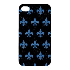 Royal1 Black Marble & Blue Colored Pencil (r) Apple Iphone 4/4s Hardshell Case by trendistuff