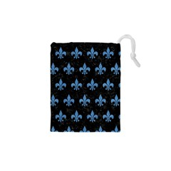 Royal1 Black Marble & Blue Colored Pencil (r) Drawstring Pouch (xs) by trendistuff