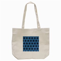 Royal1 Black Marble & Blue Colored Pencil Tote Bag (cream) by trendistuff