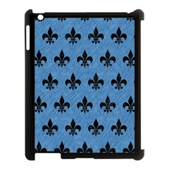 Royal1 Black Marble & Blue Colored Pencil Apple Ipad 3/4 Case (black) by trendistuff