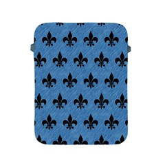 Royal1 Black Marble & Blue Colored Pencil Apple Ipad 2/3/4 Protective Soft Case by trendistuff