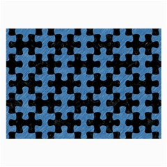 Puzzle1 Black Marble & Blue Colored Pencil Large Glasses Cloth by trendistuff