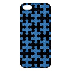 Puzzle1 Black Marble & Blue Colored Pencil Iphone 5s/ Se Premium Hardshell Case by trendistuff