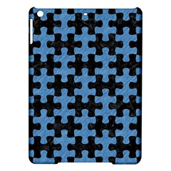 Puzzle1 Black Marble & Blue Colored Pencil Apple Ipad Air Hardshell Case by trendistuff