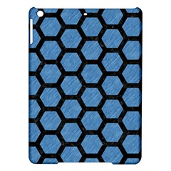 Hexagon2 Black Marble & Blue Colored Pencil (r) Apple Ipad Air Hardshell Case by trendistuff